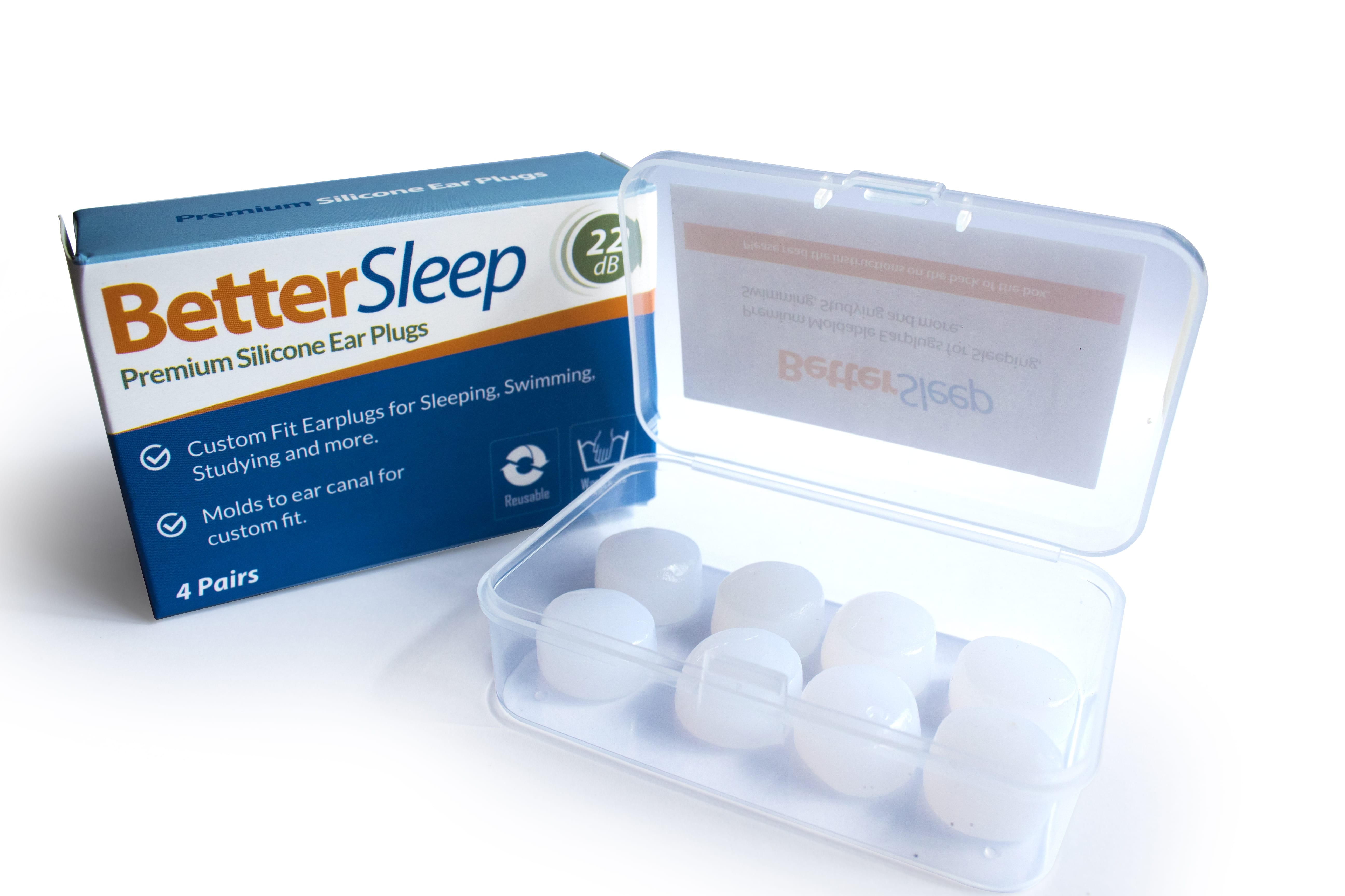 Better Sleep Premium Moldable Silicone Earplugs