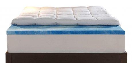 Sleep Innovations 4 Inch Memory Foam Mattress Topper